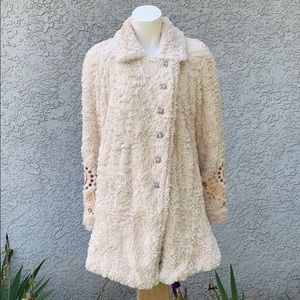 Free People Teddy Sherpa Embroidered Swing Coat 🧥